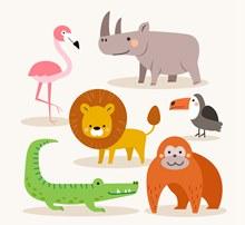 6款可爱野生动物矢量下载