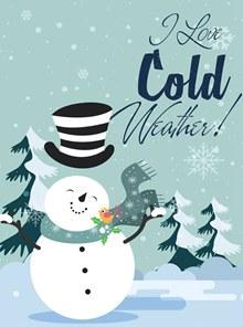 卡通冬季雪地雪人矢量图下载