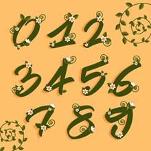 10个创意花卉装饰数字矢量图下载