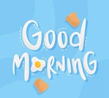 创意早上好艺术字设计矢量图片