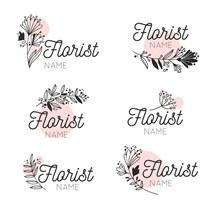 6款创意花店标志矢量素材