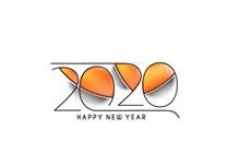 2020年新年艺术字设计矢量图下载