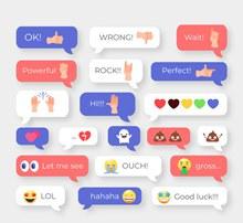 20款创意聊天表情语言气泡图矢量图下载