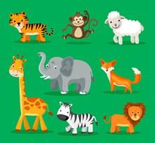 8款可爱动物设计矢量图下载