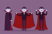 3款创意吸血鬼设计矢量