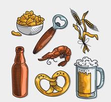 7款创意啤酒节元素矢量图片