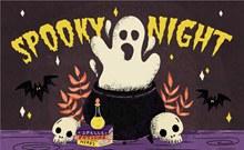 创意万圣夜恐怖幽灵矢量图片