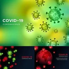 新冠肺炎病毒主题背景设计矢量下载