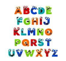 26个创意怪兽字母矢量图片