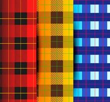 3款彩色格子背景设计矢量素材