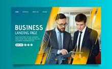 创意商务男子网站登录界面图矢量