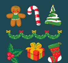 7款创意圣诞节元素矢量下载