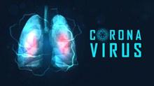 抽象新型冠状病毒肺部海报图矢量图下载