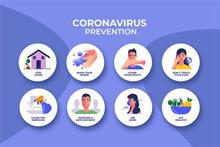 创意预防新型冠状病毒示意图矢量素材