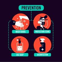 创意预防新冠肺炎示意图矢量