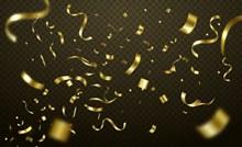 金色纸屑节日背景矢量图下载