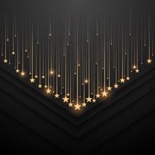 金色星星装饰背景矢量