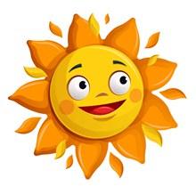卡通大眼睛太阳矢量素材