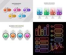 霓虹等效果信息图创意设计矢量