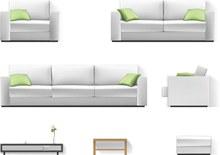 现代家具矢量图