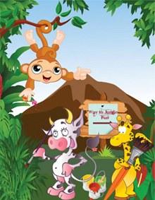 卡通森林动物矢量图片