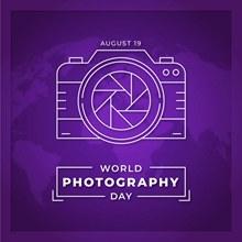 世界摄影日矢量图下载