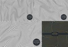 波形曲线元素抽象背景创意矢量图片