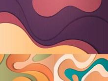 层次感波形曲线创意背景设计图矢量