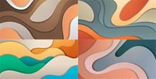 多彩层次分明抽象背景创意矢量图片