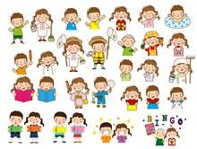 32款可爱儿童设计矢量图