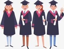 毕业季学生集体合照矢量下载