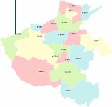 河南省地图图矢量