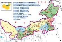 内蒙古地图矢量素材