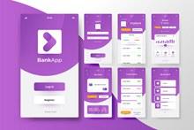 银行应用程序接口概念矢量下载
