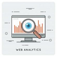 网络数据分析概念插画矢量图