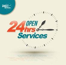 24小时开放服务矢量