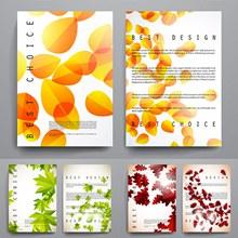 秋季风格的画册样式模板矢量图下载