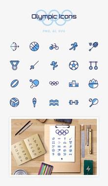 运动体育器材图标矢量图片