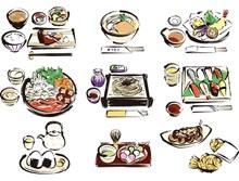 手绘美味日本料理(1)矢量图