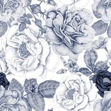 手绘花卉无缝背景(1)矢量