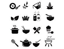 厨房工具图标矢量图片