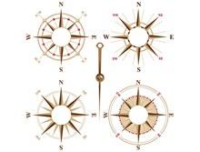 指南针矢量图片