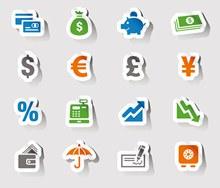 16款金融图标矢量图片