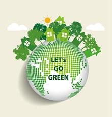 绿色生态地球海报设计矢量图片