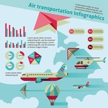 飞行器信息图表矢量图片