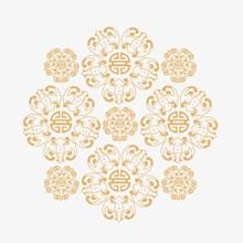 福纹装饰元素图矢量图下载