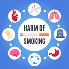吸烟有害健康设计理念矢量下载