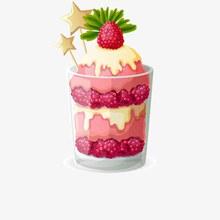 美味草莓冰淇淋矢量下载