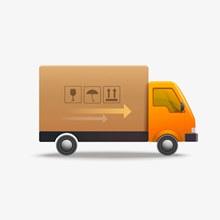 卡通物流运输货车设计矢量图下载