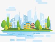自然能源生态城市矢量下载
